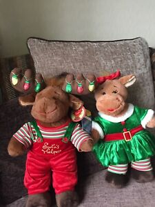 Build A Bear Mr &Mrs Moose Christmas