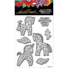 Stampendous Laurel Burch Cling Stamp W/Template - Magical Horses LBCRS07