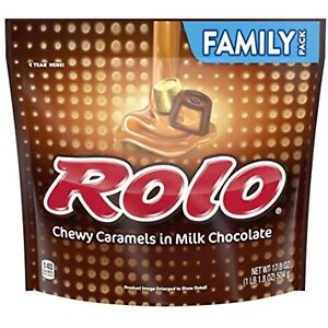 Rolo Packaged Candy Family Pack Stand Up Bag LARGE