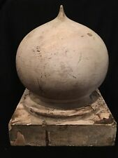 LARGE Antique Hard Wood Newel Post Porch Finial Ornate Architecture Salvage