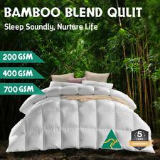 Aus Made All Size Microfiber Microfibre Bamboo Winter Summer Quilt Duvet Doona