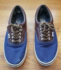 81663463d3 VANS Era Size 9.5 Blue Canvas and Brown Leather