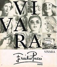 PUBLICITE ADVERTISING 015  1976  EMILIO PUCCI   parfum VIVARA