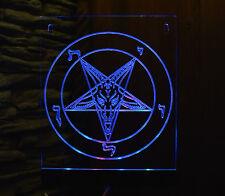 Satan Baphomet Lucifer Pentagram FLAG Banner  RGB LED Panel (VIDEO)