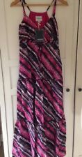 Ladies Multi Coloured Maxi Dress By Cherokee Size 10.