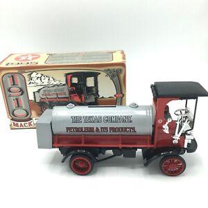NIB VTG 1995 Texaco 1910 Mack Tanker Truck Die Cast Bank Collector's Series 12