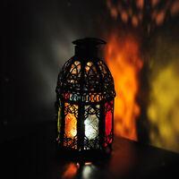 Vintage Hollow Metal Lantern Candle Holder Garden Night Outdoor Tea Light