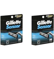 Gillette Sensor Razor Blades Refills, 20 Cartridges