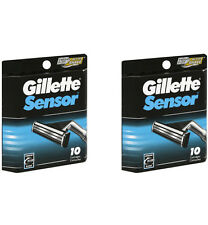Gillette Sensor for Men  20 Cartridges Razor Blade Refills, (2 Packs of 10)