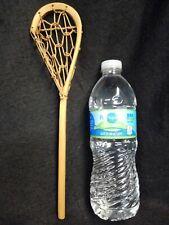 "Mini Lacrosse Stick Miniature 11"" Bentwood Hand Tied Vintage old lacrosse stick"