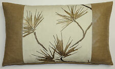 "New Harlequin Entwine Fabric Cushion Cover 20""x 12"" Shimmer Dark Linen Cream"