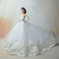 White Fashion Royalty Princess Dress/Clothes/Gown for Barbie Doll S185