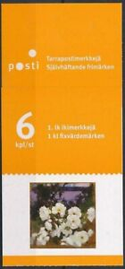 FINLAND Sc. 1342 1 lk Paintings of Flowers 2009 MNH booklet of 6