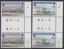 Falkland Islands 1999 Esposizione filatelica di Parigi 750-51 gutter pairs Mnh