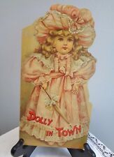 """Vintage book """"Dolly in Town"""" Book  Victorian Doll poems & rhymes reprint die cut"""