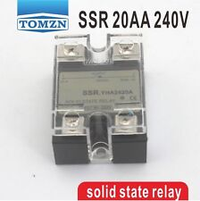 20AA SSR input 90-250V AC load 12-240V AC single phase AC solid state relay