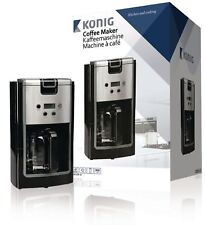 NEW KONIG KN-COF10 900W 12 CUP COFFEE MAKER WITH 24 HR TIMER, BLACK & SILVER