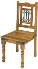 2x DINING CHAIRS BRAND NEW INDIAN JALI SHEESHAM DINING CHAIRS/ BOX OF 2