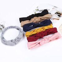 Chinese Knot Cross Cotton Headband Knitted Elastic Knot Hairband Headwear