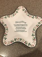 Pfaltzgraff Winterberry Plate of Sharing Treats Star Shaped. (A24)