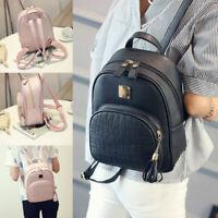 Women Backpack PU Leather Shoulder School Rucksack Ladies Girls Travel Bag Pack