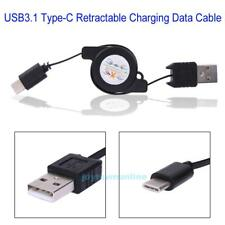 Retractable Cable Charger Charging Type-C USB-C 3.1 Cabel For Huawei P9 Honor 8