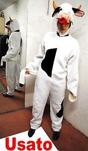 ABITO, COSTUME DI CARNEVALE MUCCA CAROLINA PELUCHE TAGLIA ADULTO CARNIVAL COW