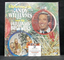 Andy Williams & The Williams Brothers Autographed/Signed Christmas Record-Singer