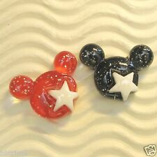"US SELLER - 20 pcs x 7/8"" Resin Mouse Head Flatback Bead for Mickey Craft SB38B"