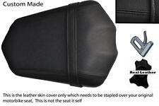 BLACK CUSTOM FITS YAMAHA FAZER FZ1 06-12 REAR PILLION LEATHER SEAT COVER