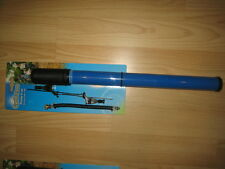 "Blue15"" Bike Cycle Pump Mountain Bike presta or schrader valves inc frame clips"