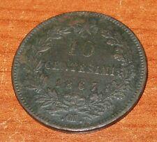 10 Centesimi Regno D'Italia Vittorio Emanuele II 1867 ° OM ° - BB -  n. 827