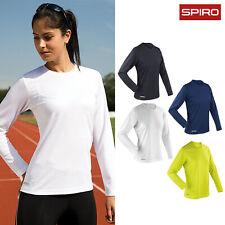 Spiro Women's Quick-Dry Long Sleeve T-Shirt (S254F) - Ladies Running Casual Tee