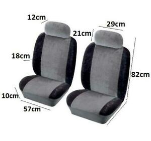 Quality Front Pair Black Airbag Fabric Seat Cover Protector Easy Fit For Peugeot