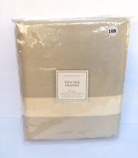"""Restoration Hardware Thai Silk Solid Drapery RP 100""""W x 108""""L Sand NEW $749."""