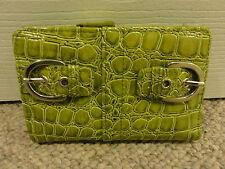 Target Women's Clutch Wallet ID Card holder coin cash snap Green Silver