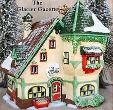Dept 56 North Pole Village Series The Glacier Gazette Newspaper ~ MINT in Box!