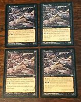 4x Sewer Rats x4 Mirage NM/M Unplayed Pauper Vintage MTG + Fast/Free Shipping!