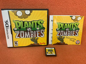 Plants vs Zombies Nintendo DS Original Authentic Game Complete CIB!