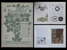 ART ET DECORATION 1913 COUSSIN, PILLARD VERNEUIL, MANZANA-PISSARO, J. L. FORAIN