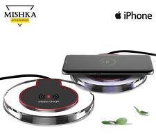 Qi Ricarica Caricabatteria Wireless + Adattatore per iPhone 5 5C SE 6 7 plus