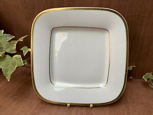 Porcelain Spode Golden Eternity Cake / sandwich , Serving Plate Square