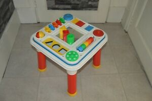Games Educational Activity Table D Learning Revesrsible Fisher Price Vintage