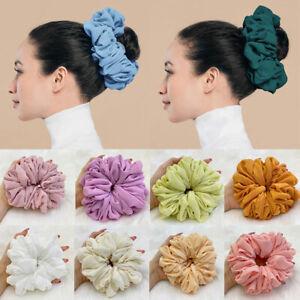 Muslim Bunch Large Hair Tie Women Chiffon Rubber Band Hijab Scrunchie Headband