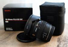 Sigma 10-20mm F3.5 EX DC HSM wide Lens for Canon Mount Digital SLR