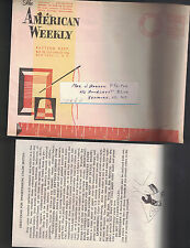 American Weekly Color Motifs w Mailer & 6 Antique Car Transfers