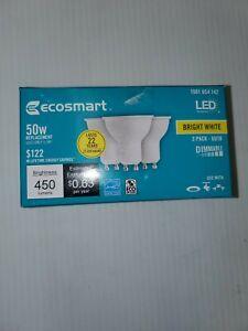 Ecosmart 50-Watt Equivalent GU10 EnergyStar LED Light Bulb Bright White (3-pack)