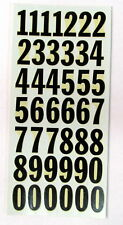 Black Racing Numbers Decals RUSSKIT #7115 1960 Complete sheet Slot Car NOS