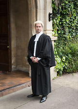 Barrister Gown, Wig and Band/Collarette Set - Legal wear package