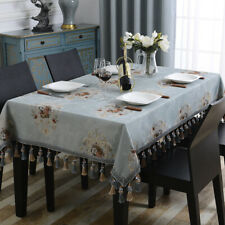 Chenille Classic Tablecloths Rectangle Square European Tassel Home Table Cover